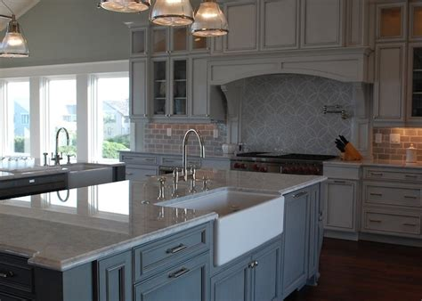 restoration hardware kitchen cabinets carrera marble countertop transitional kitchen