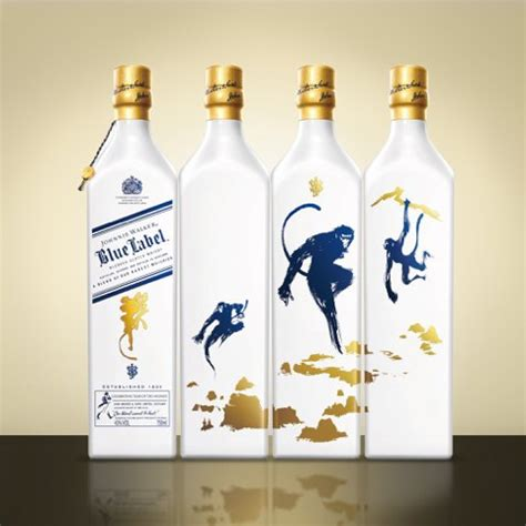 whiskey blue new years johnnie walker blue label year of the monkey