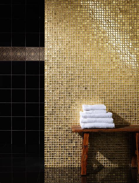 gold bathroom tile 31 black and gold bathroom tiles ideas and pictures