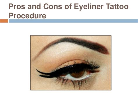 pros and cons of tattoos pros and cons of eyeliner procedure