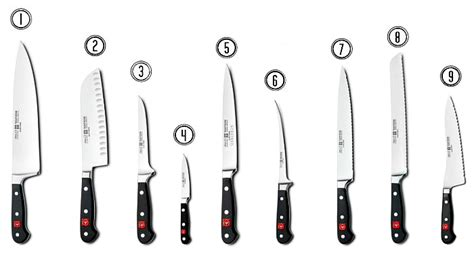 types of knives used in kitchen knives 101 the pioneer