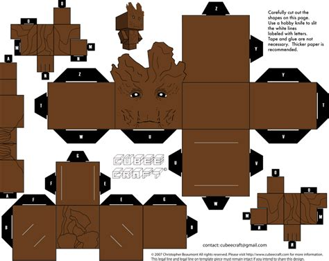 Deviantart Papercraft - groot cubeecraft by jagamen deviantart on deviantart