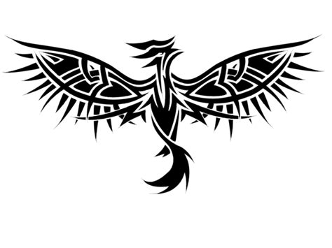 spread wings tattoo designs free black tribal with spread wings design