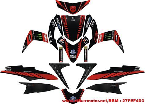 Stiker Decal Striping Motor Soul Gt Persib V2 Grade A striping motor soul gt tech3 stikermotor net