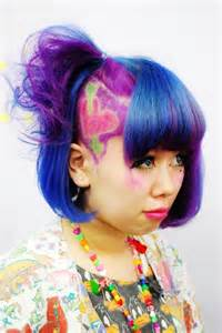 colored undercut cool multicolored hair hair colors ideas