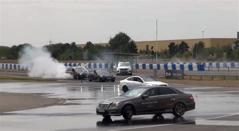 brooklands mercedes world amgs doing drifting and burnouts at mercedes world