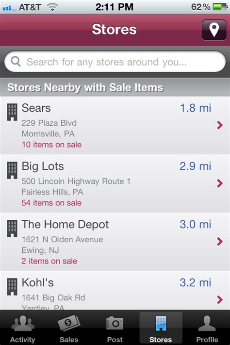 Android Nearby Ios by Find Nearby Sales With Zoomingo For Your Android Or Ios Device