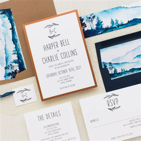 Wedding Invitations Mountains by Blue Mountain Wedding Invitations Beacon