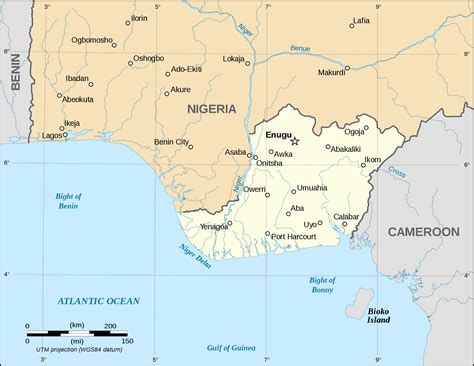 nigéria niger karte tierwelt