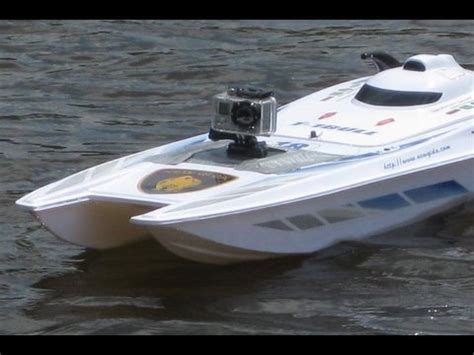 rc boats with camera rc electric boat and a go pro hero camera gone wild cam