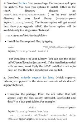 latex tutorial texshop languages hebrew in texshop tex latex stack exchange