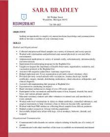 Resume Sles Vet Assistant Best Veterinary Assistant Resume Templates In 2016