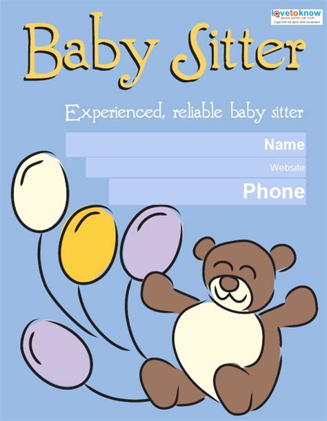babysitting template 10 fabulous psd baby sitting flyer templates free