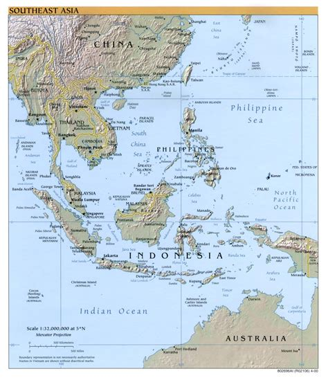 South East Asia Physical Map asia physical map blank with rivers viewing gallery