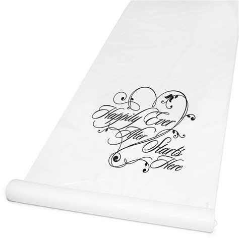 Wedding Aisle White by Happily After Aisle Runner White Invitations By