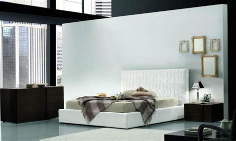 italy leather modern master bedroom set grand