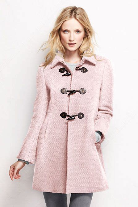 Women s basketweave wool toggle coat from lands end
