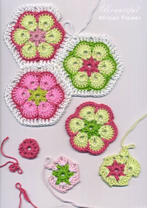 Pattern African Flower Crochet   african flower paperweight granny free crochet patterns