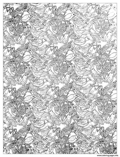 adult plenty birds complex coloring coloring pages printable