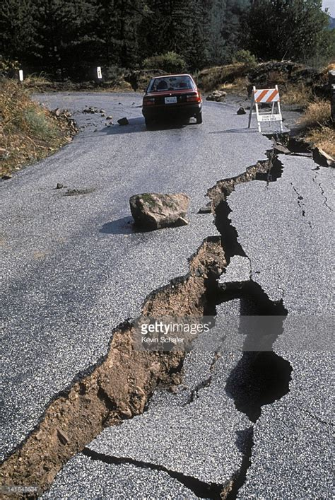 earthquake in california earthquake damage to road near santa cruz california 1989