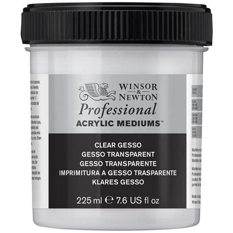 Baru Winsor Newton Artists Acrylic White Gesso 946ml clear gesso primer winsor newton