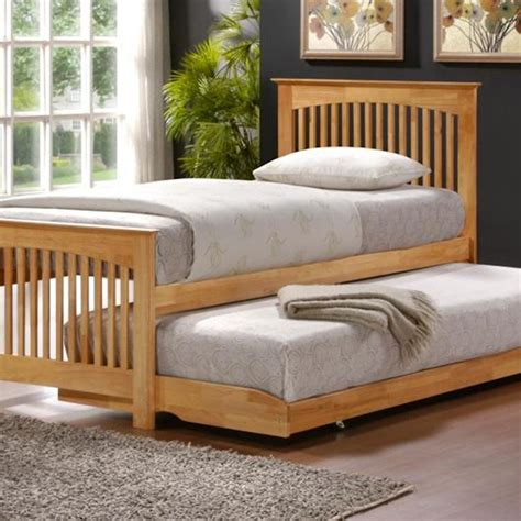 toronto trundle bed oak