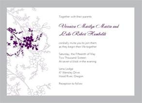 wedding invitation templates floral wedding invitation