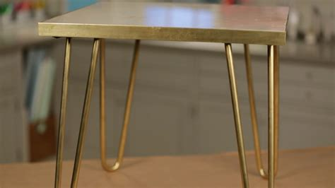 brass hairpin table legs brass leg side table project martha stewart