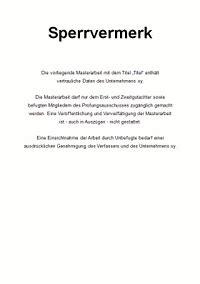 Schreiben Muster Persönlich Vertraulich Vertraulichkeitserkl 228 Rung Sperrvermerk F 252 R Die Masterarbeit