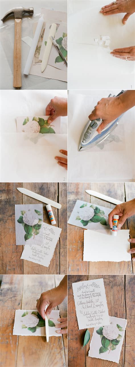 Wax Paper Craft Ideas - diy wax paper wedding invitations once wed