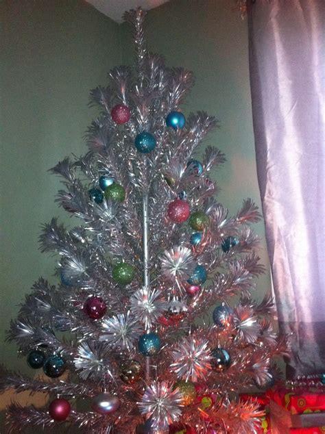 vintage aluminum pom pom christmas tree christmas