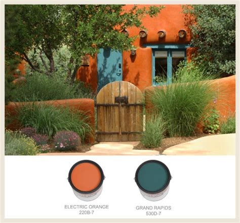 southwestern colors colorfully behr southwestern style adobe homes