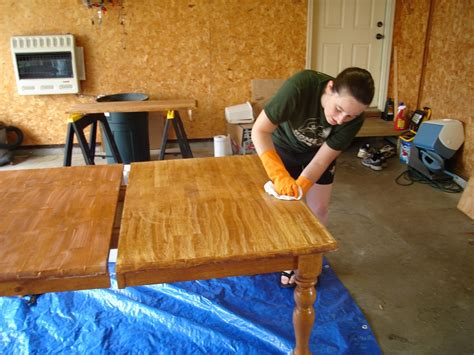 how to restain wood table furniture from wood