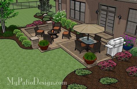 Square Backyard Ideas Medium Two Square Patio Tinkerturf