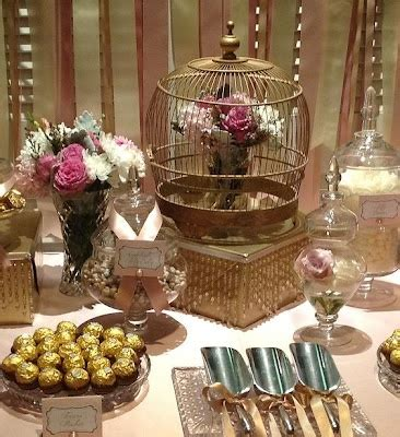 Our Vintage Lolly Candy Buffet In Pink Gold And Gold Buffet Table