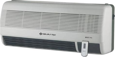 room heaters price in bangalore bajaj majesty rpx 7 ptc wall mount fan room heater reviews and ratings