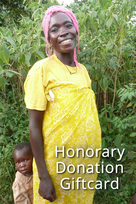 Gift Card Donation - honorary gift donation card onemama