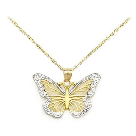 Butterfly Gold gold monarch butterfly necklace made in u s a