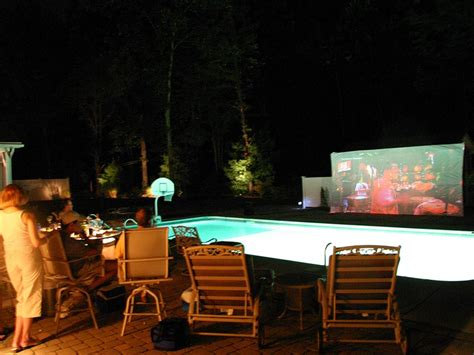 backyard movie projector rental backyard movie night 187 all for the garden house beach