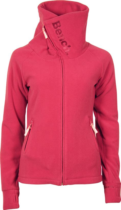 bench foldover fleece jacket sangria