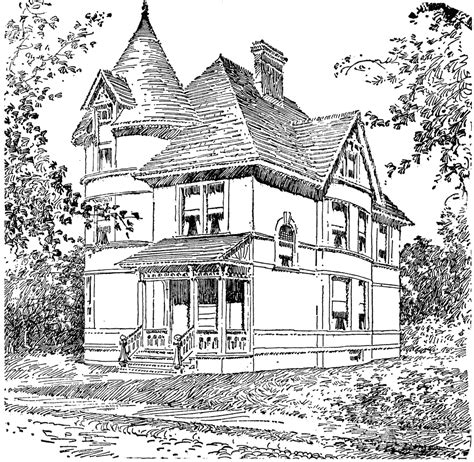 Printable Coloring Pages For Adults Houses | victorian homes coloring pages for adults victorian