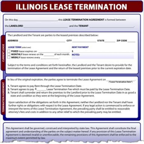 Lease Termination Letter Illinois Illinois Lease Termination