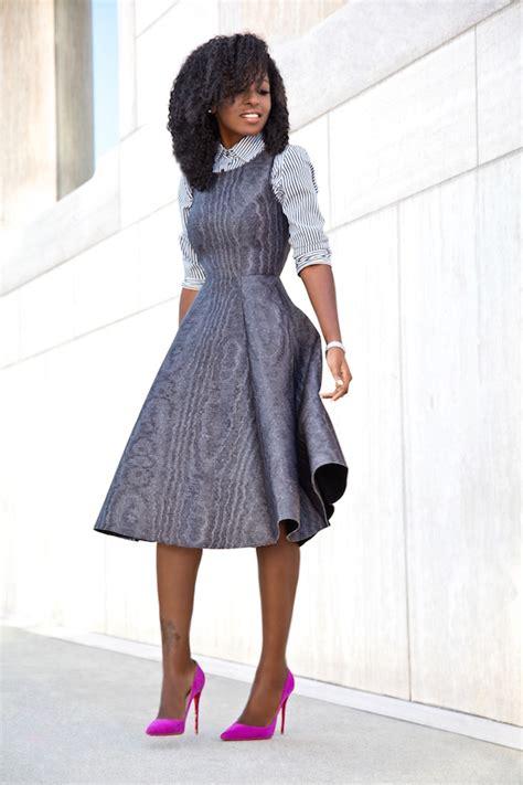Finneah Stripes Flare Midi Dress style pantry striped shirt fit flare midi dress
