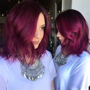 hair styles that are and layerd with purple die in it 23 cute bob haircuts styles for thick hair short