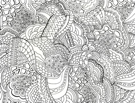 Detailed Designs Coloring Pages | byrds words coloring books for grown ups
