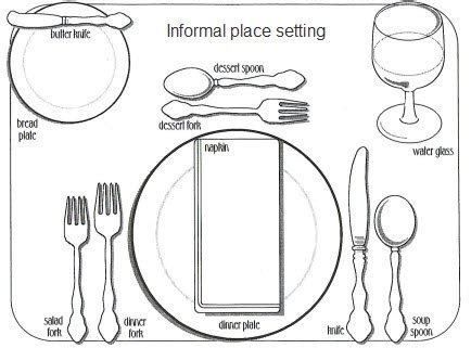 dining table: informal dining table setting