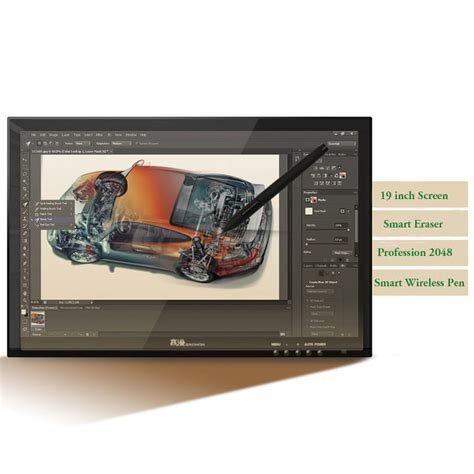 Graphic Drawer by 19 Inch Lcd Digital Drawing Tablet Monitor Usb Graphics