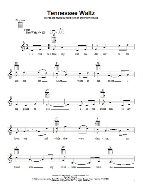 waltz lyrics tennessee waltz by patti page ukulele guitar instructor