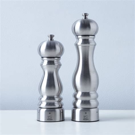 peugeot chef uselect stainless steel pepper salt