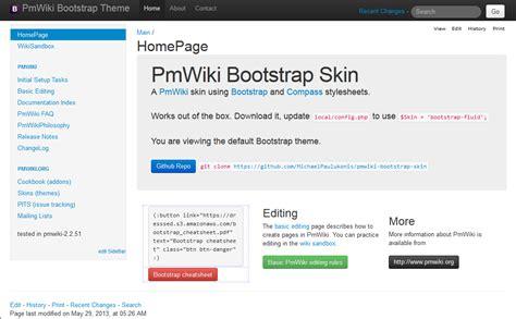 bootstrap themes config json michaelpaulukonis pmwiki bootstrap skin 183 github